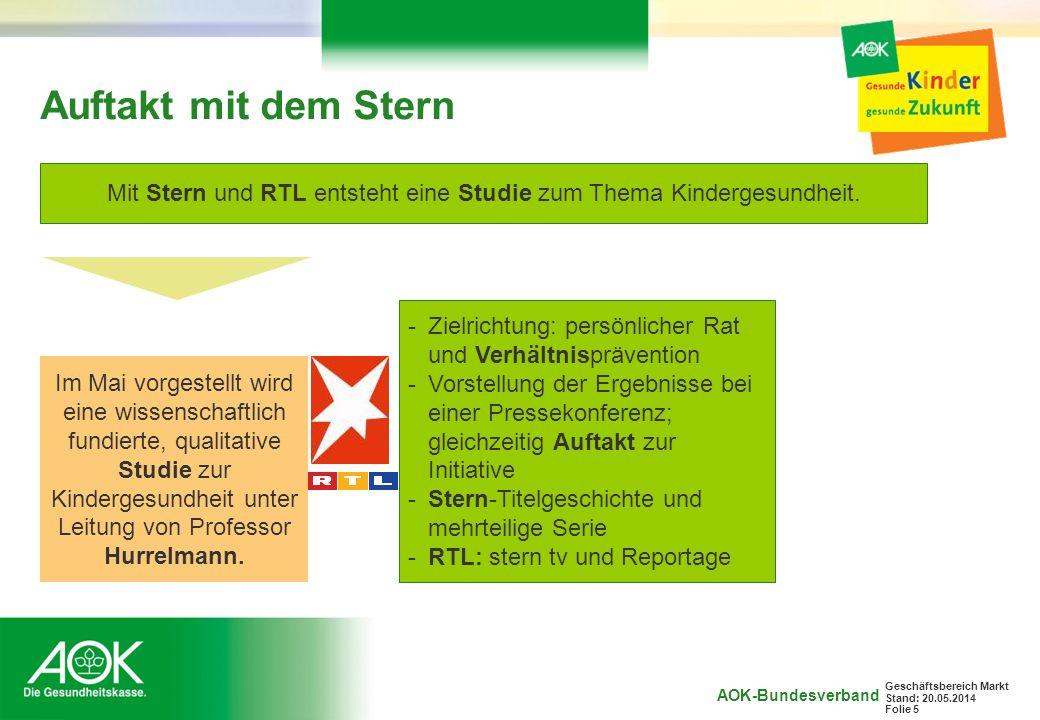 Mit Stern und RTL entsteht eine Studie zum Thema Kindergesundheit.
