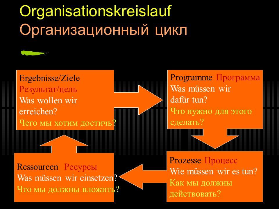 Organisationskreislauf Организационный цикл