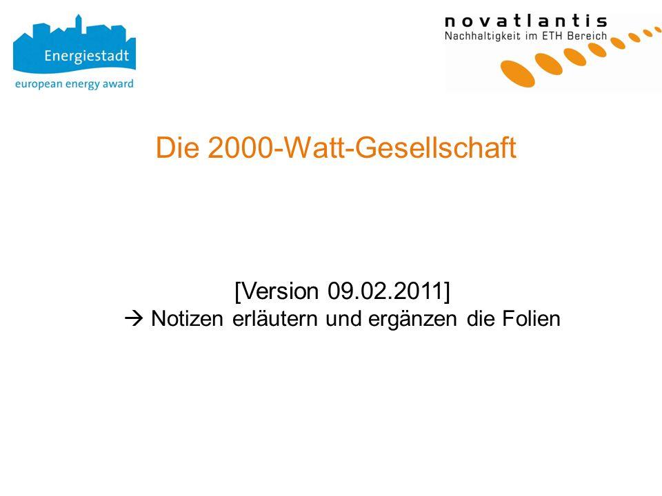 Die 2000-Watt-Gesellschaft