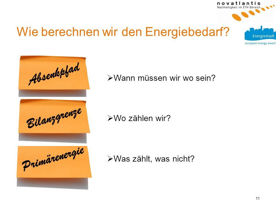 Wie berechnen wir den Energiebedarf