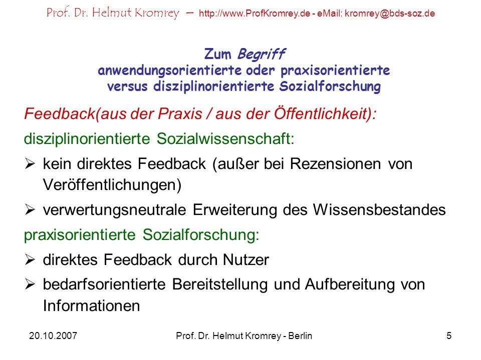 Prof. Dr. Helmut Kromrey - Berlin