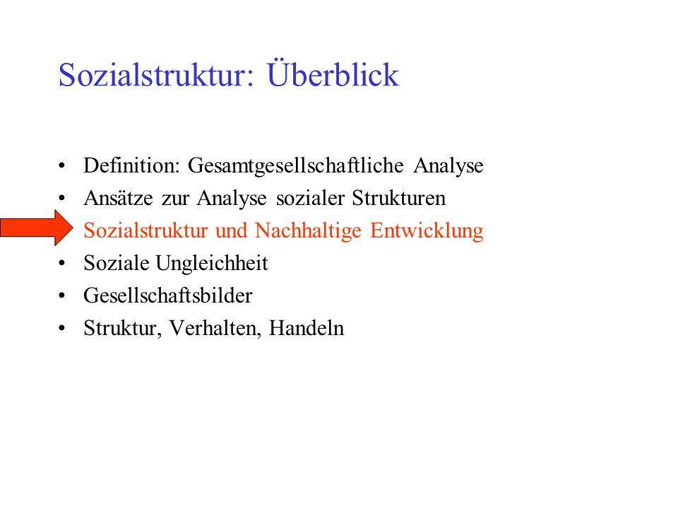 Sozialstruktur: Überblick