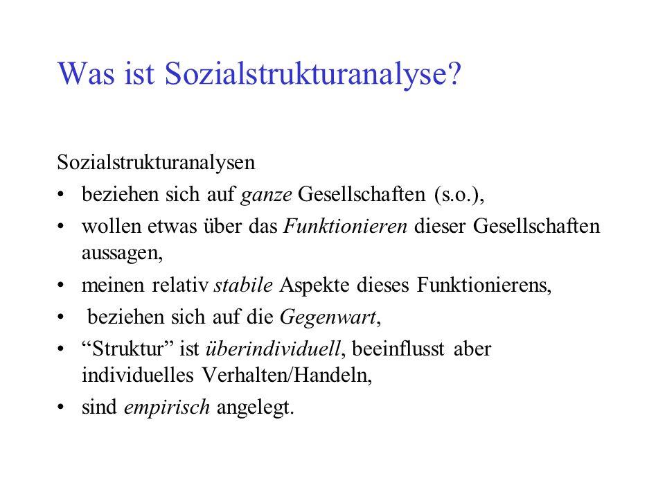 Was ist Sozialstrukturanalyse