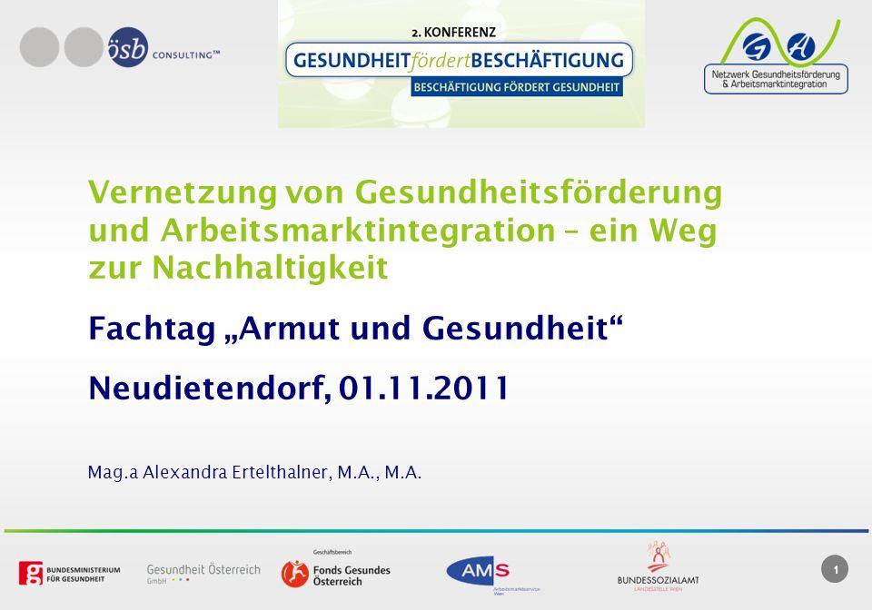 """Fachtag """"Armut und Gesundheit Neudietendorf, 01.11.2011"""