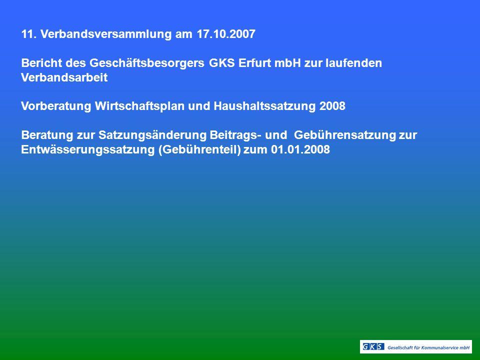 11. Verbandsversammlung am 17.10.2007