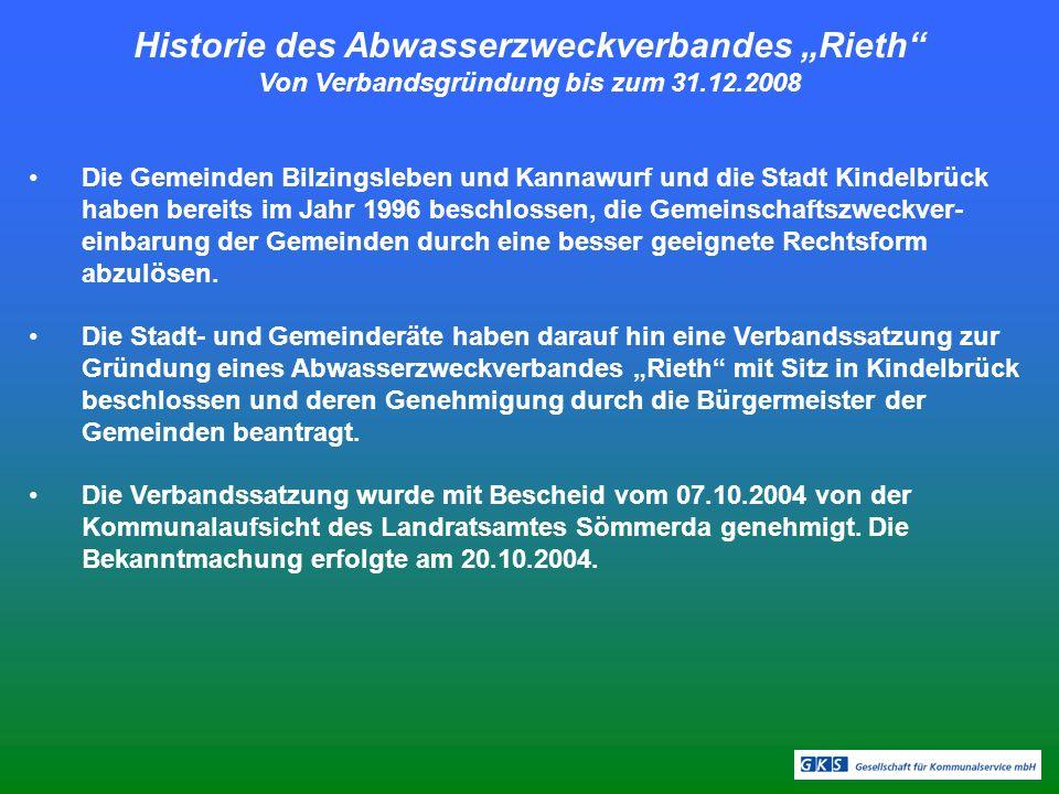 """Historie des Abwasserzweckverbandes """"Rieth"""