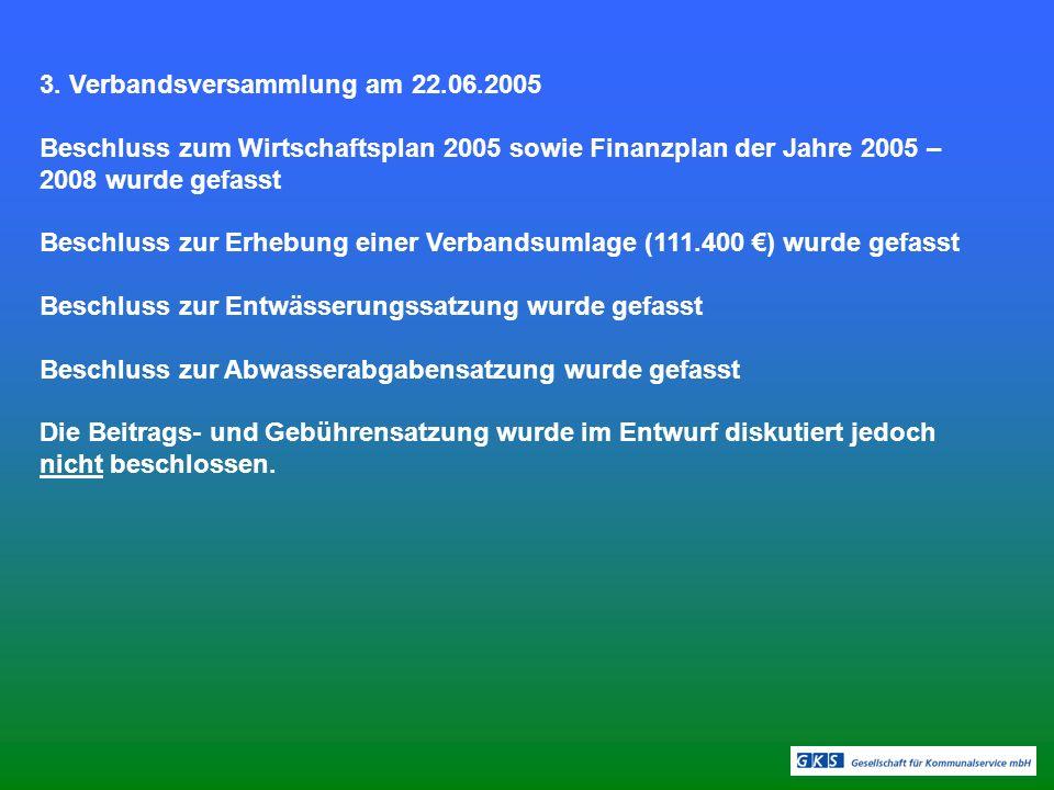 3. Verbandsversammlung am 22.06.2005