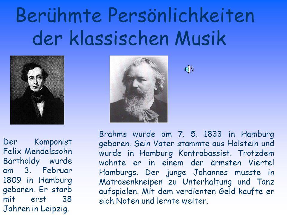 Berühmte Persönlichkeiten der klassischen Musik