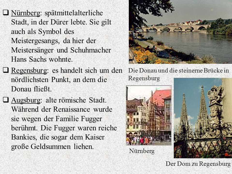 Nürnberg: spätmittelalterliche Stadt, in der Dürer lebte