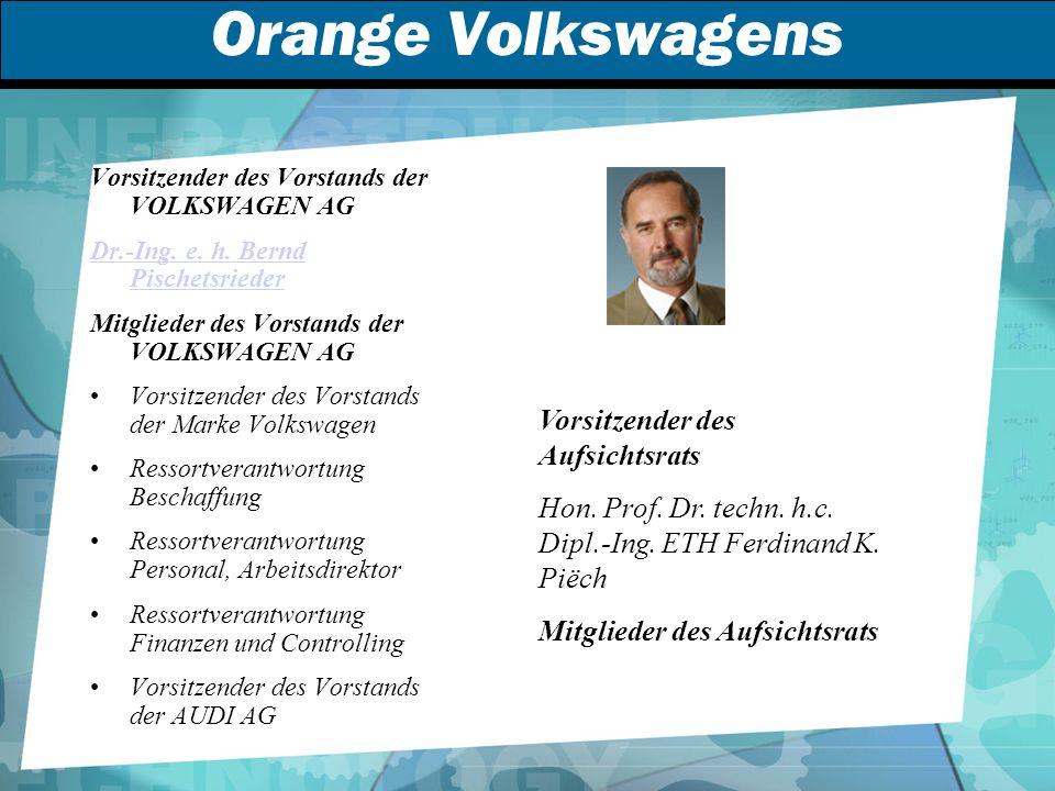 Orange Volkswagens Vorsitzender des Aufsichtsrats