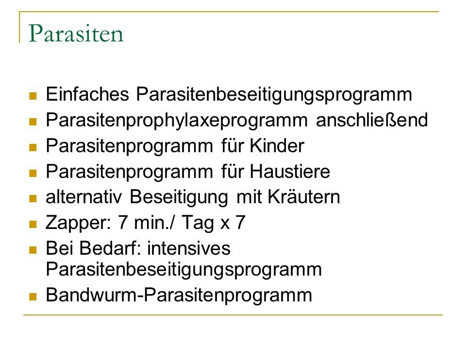 Parasiten Einfaches Parasitenbeseitigungsprogramm