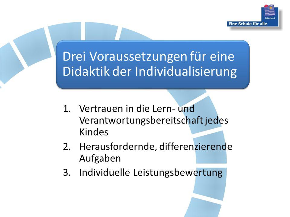 Drei Voraussetzungen für eine Didaktik der Individualisierung