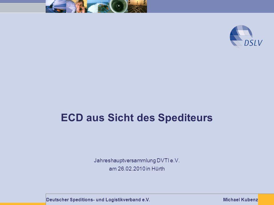 ECD aus Sicht des Spediteurs