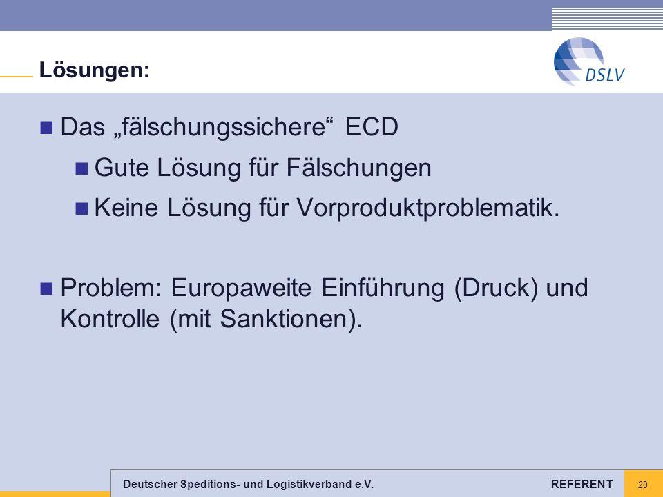"""Das """"fälschungssichere ECD Gute Lösung für Fälschungen"""