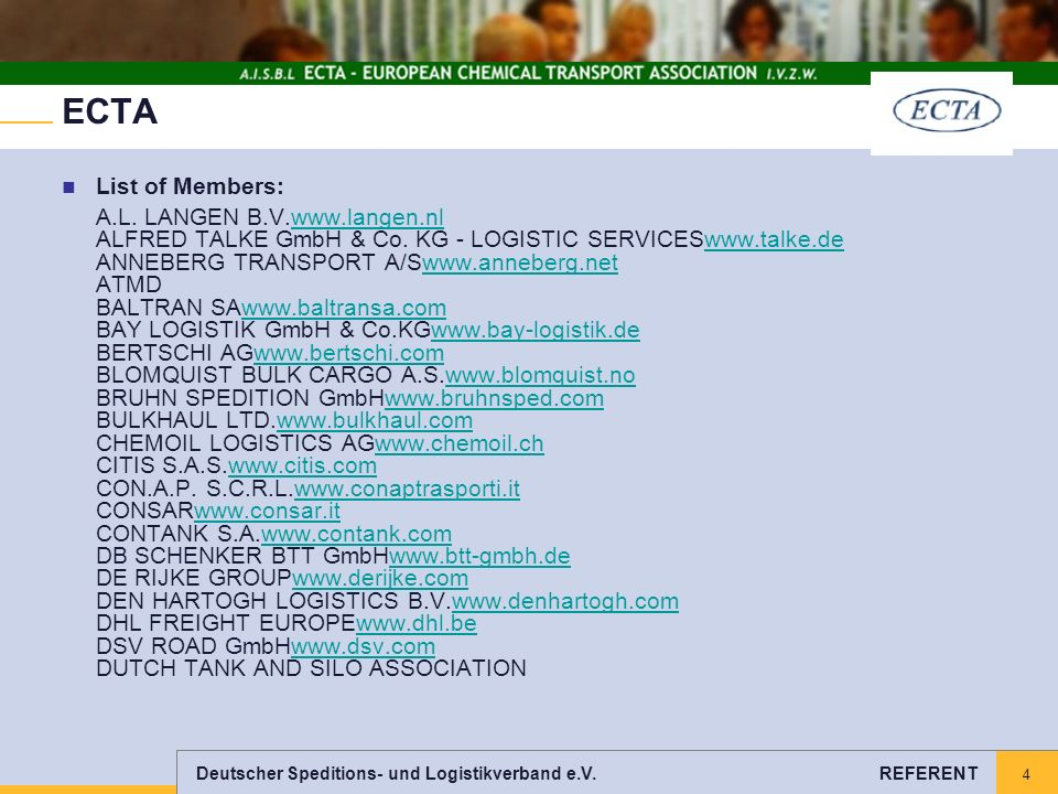 ECTA List of Members: