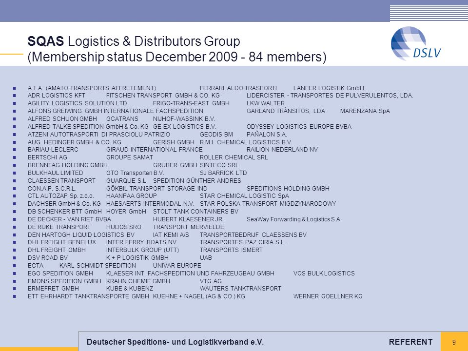 SQAS Logistics & Distributors Group