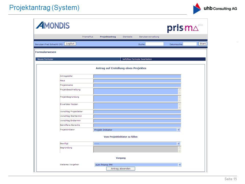 Projektantrag (System)
