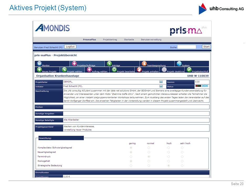 Aktives Projekt (System)