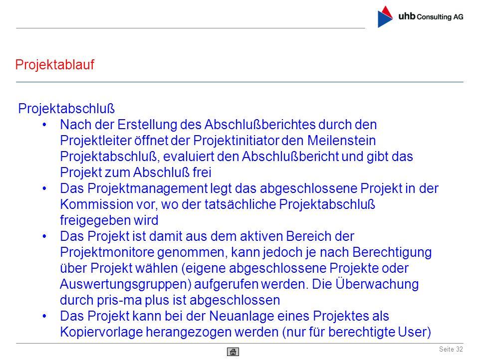 Projektablauf Projektabschluß.