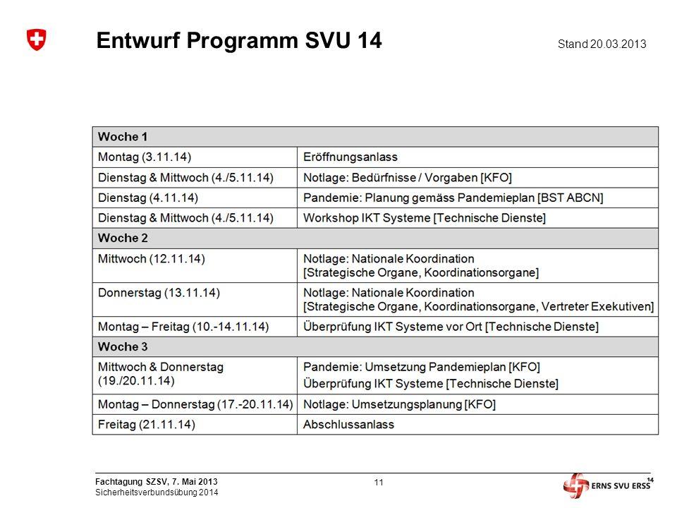 Entwurf Programm SVU 14 Stand 20.03.2013
