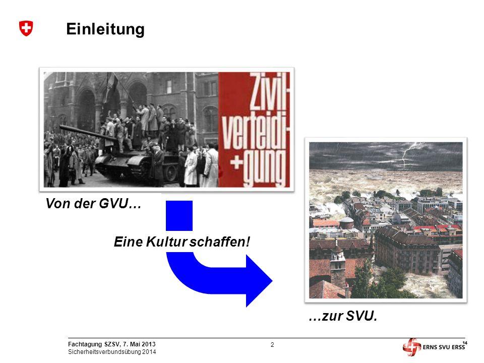 Einleitung Von der GVU… …zur SVU. Eine Kultur schaffen!