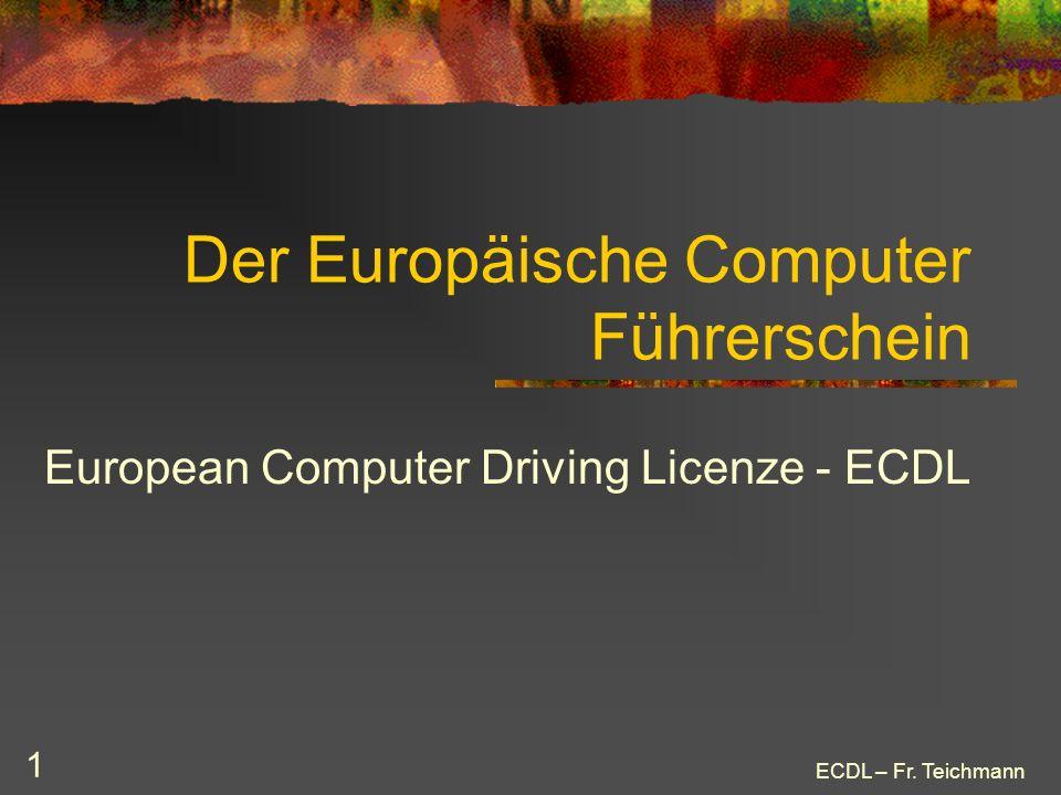 Der Europäische Computer Führerschein
