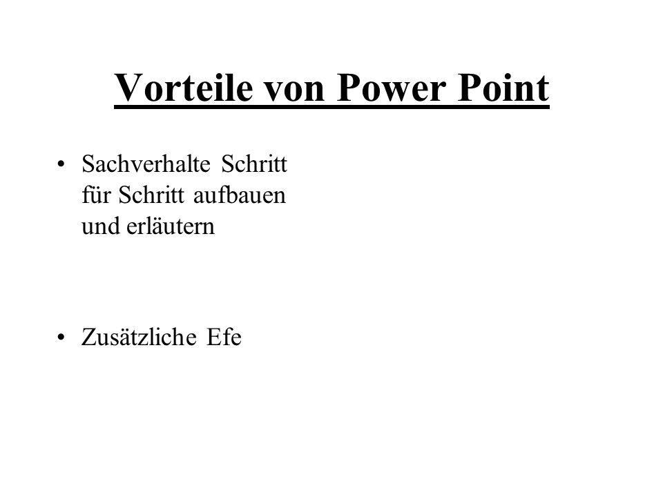 Vorteile von Power Point