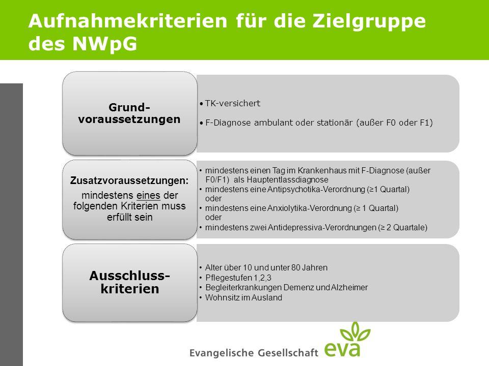 Aufnahmekriterien für die Zielgruppe des NWpG