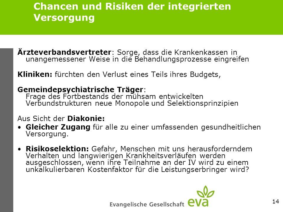 Chancen und Risiken der integrierten Versorgung