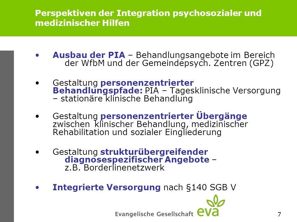Perspektiven der Integration psychosozialer und medizinischer Hilfen