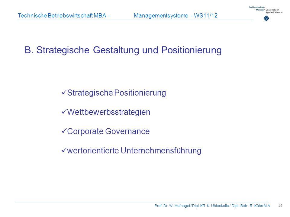 B. Strategische Gestaltung und Positionierung