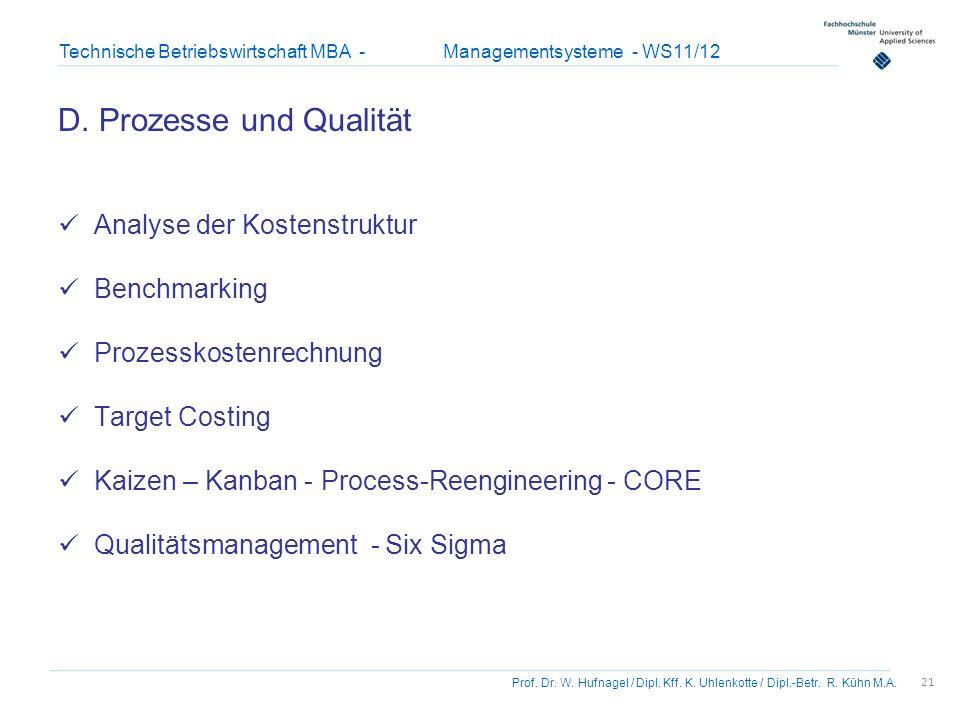 D. Prozesse und Qualität