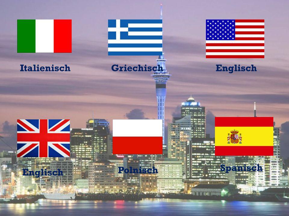 Italienisch Griechisch Englisch Spanisch Polnisch Englisch