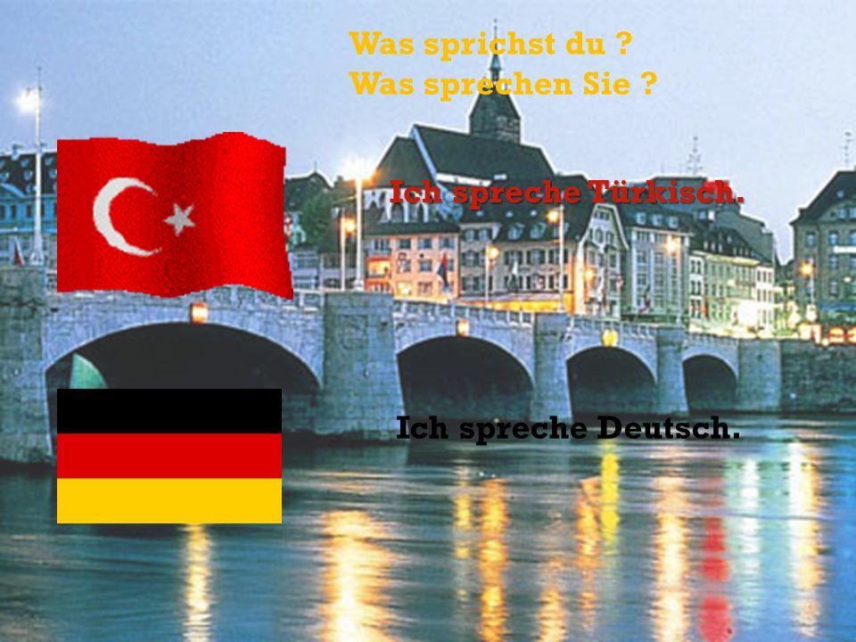 Was sprichst du Was sprechen Sie Ich spreche Türkisch. Ich spreche Deutsch.
