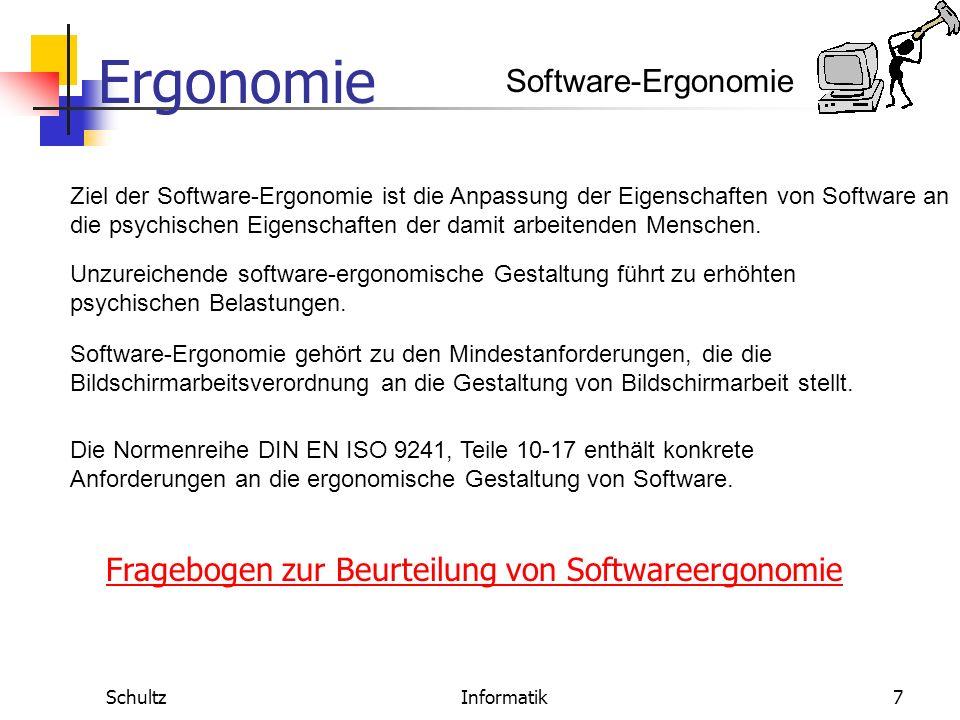 Fragebogen zur Beurteilung von Softwareergonomie