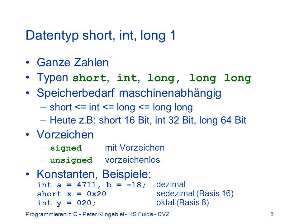 Datentyp short, int, long 1