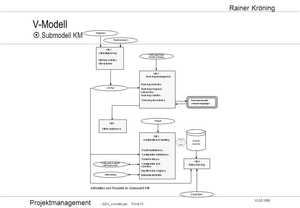 V-Modell ¤ Submodell KM