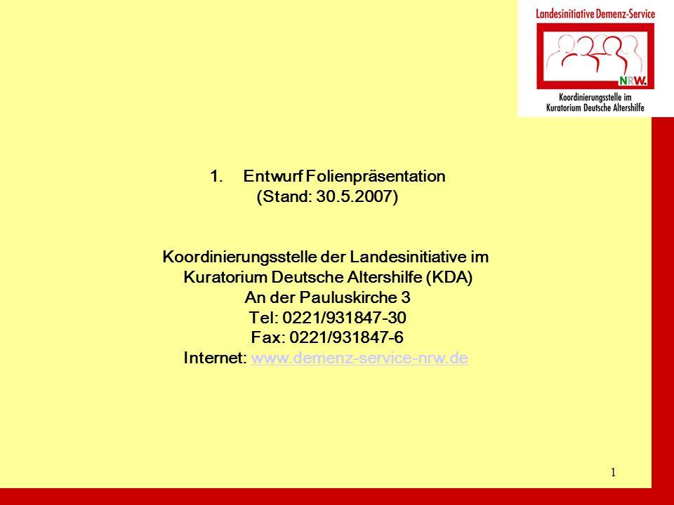 Entwurf Folienpräsentation (Stand: 30.5.2007)