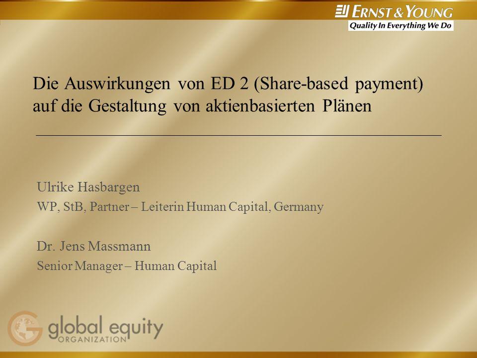 Die Auswirkungen von ED 2 (Share-based payment) auf die Gestaltung von aktienbasierten Plänen