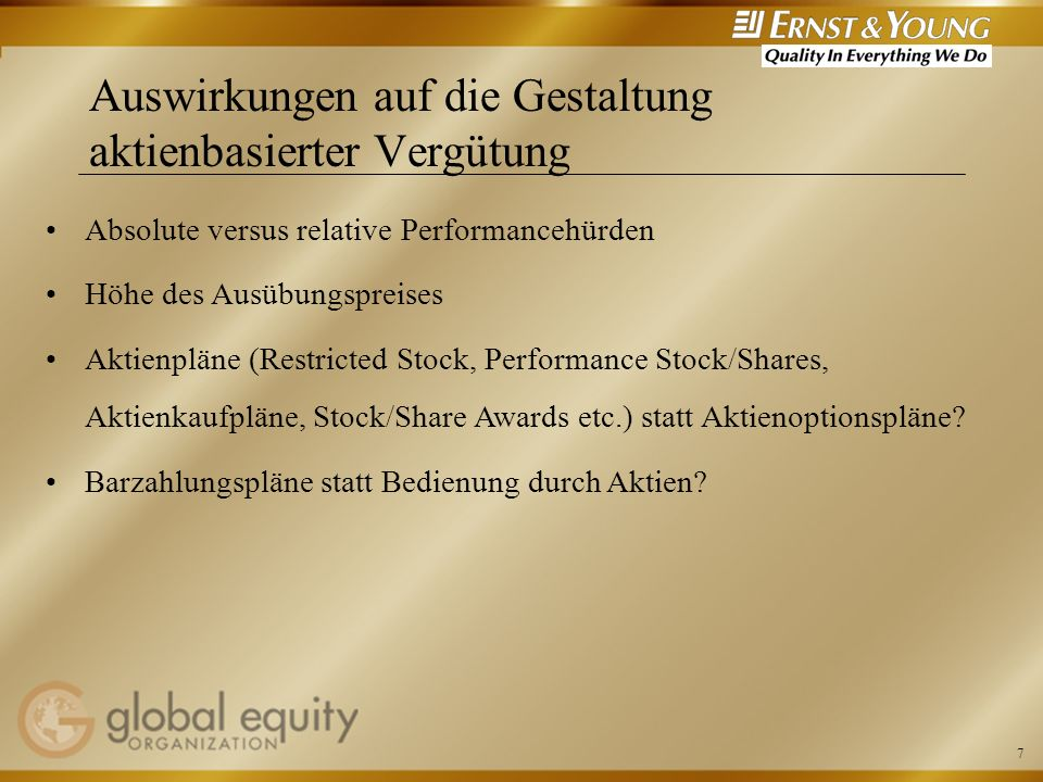 Auswirkungen auf die Gestaltung aktienbasierter Vergütung