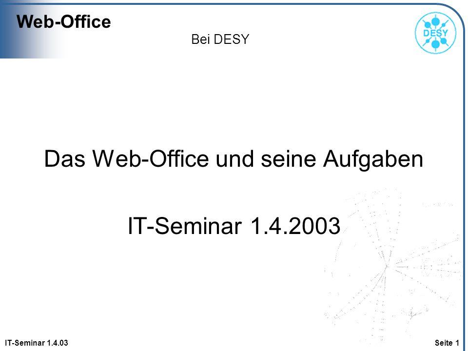 Das Web-Office und seine Aufgaben