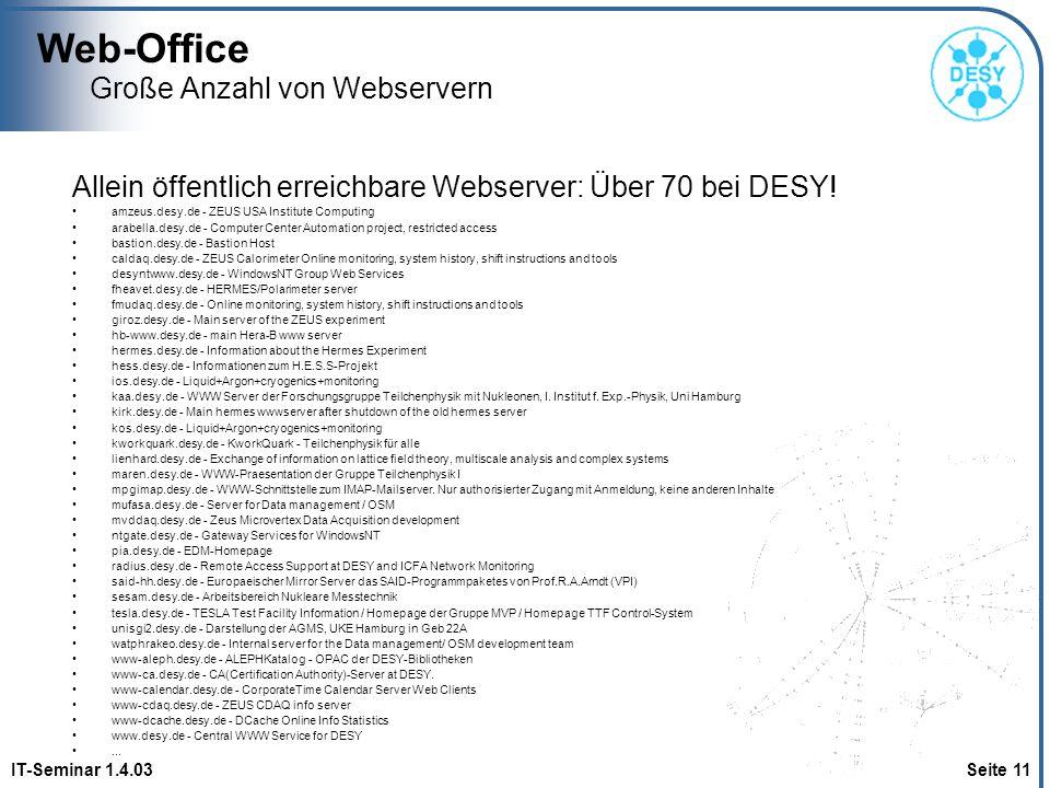 Große Anzahl von Webservern