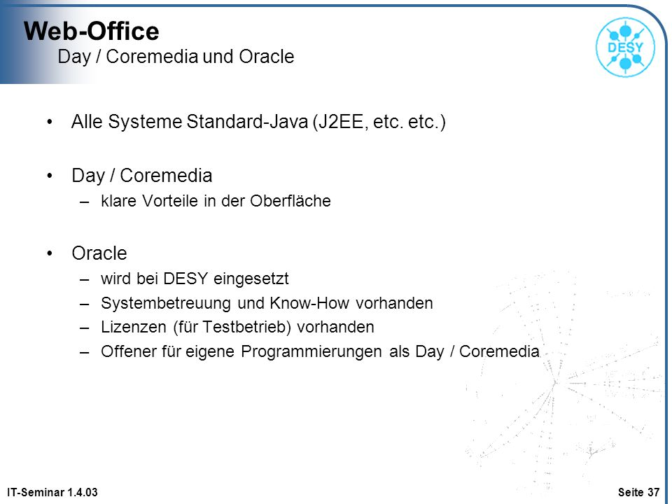 Day / Coremedia und Oracle