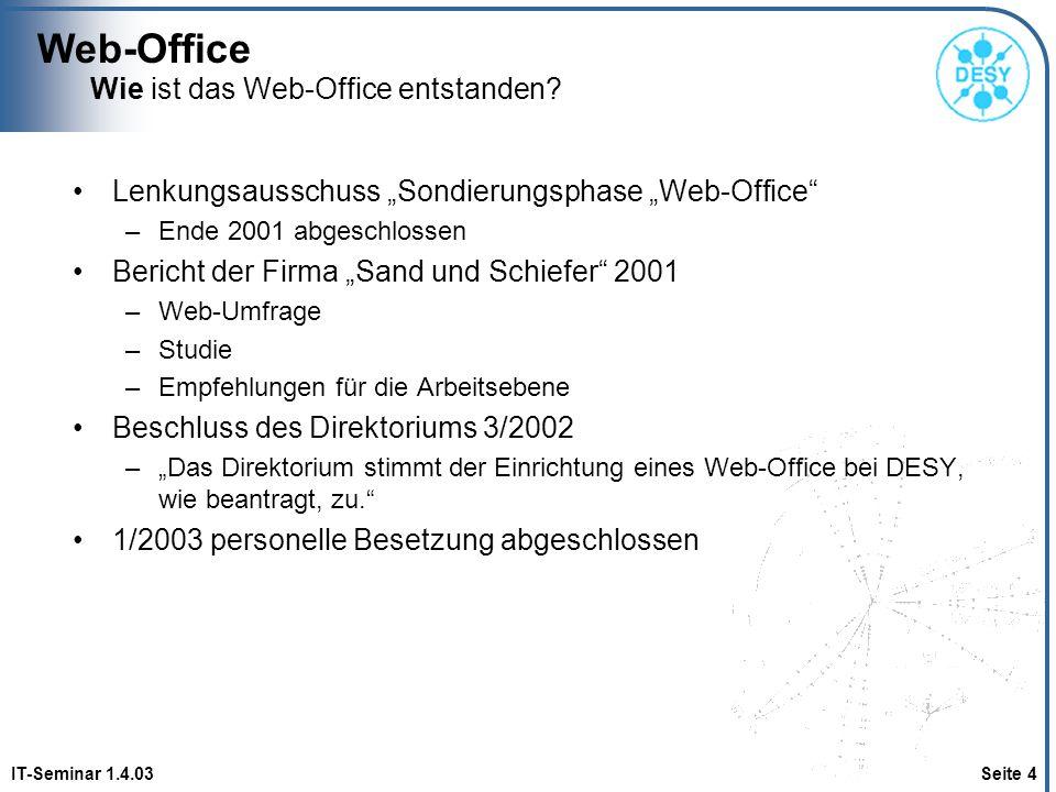 Wie ist das Web-Office entstanden
