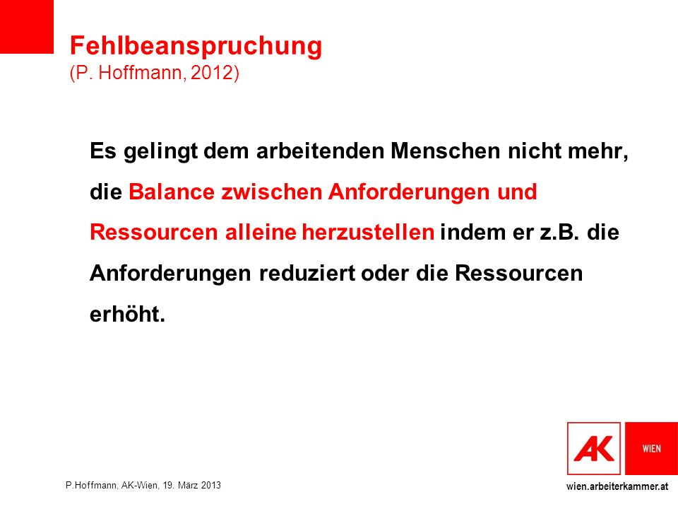 Fehlbeanspruchung (P. Hoffmann, 2012)