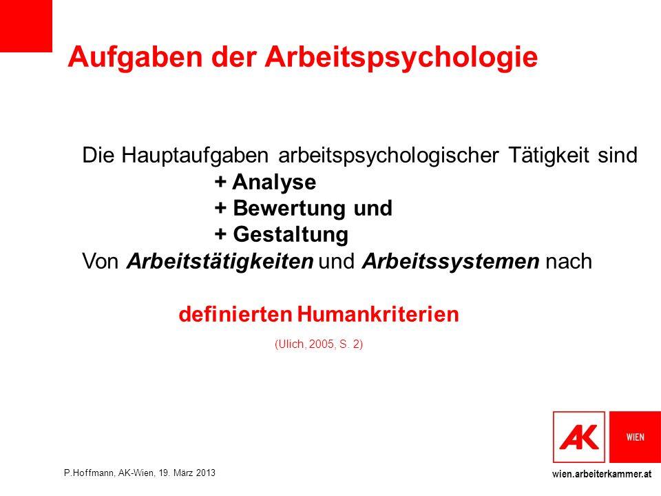 Aufgaben der Arbeitspsychologie