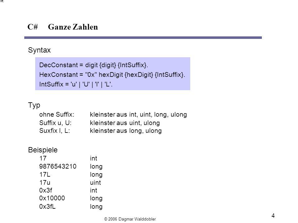 C# Ganze Zahlen Syntax Typ Beispiele
