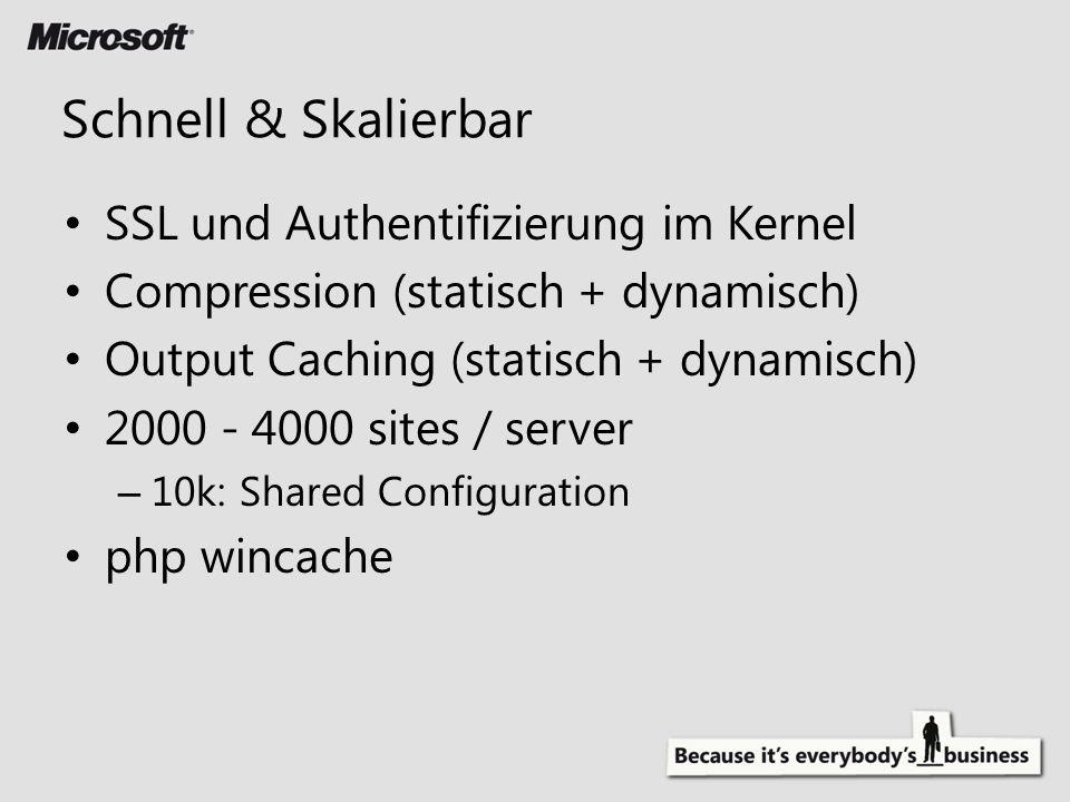 Schnell & Skalierbar SSL und Authentifizierung im Kernel