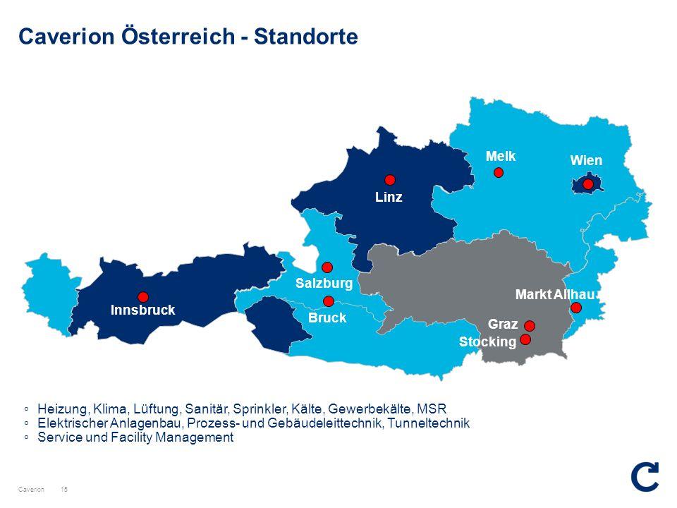 Caverion Österreich - Standorte