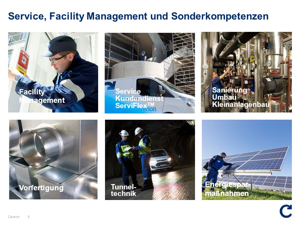 Service, Facility Management und Sonderkompetenzen